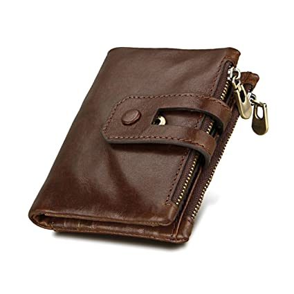 3e716ec0a5da Wallet for Men,RFID Men's Wallet Genuine Leather Blocking First  Layer-Credit Card Holder with ID Window,Anti-theft Protector,Bifold Vintage  Natural ...