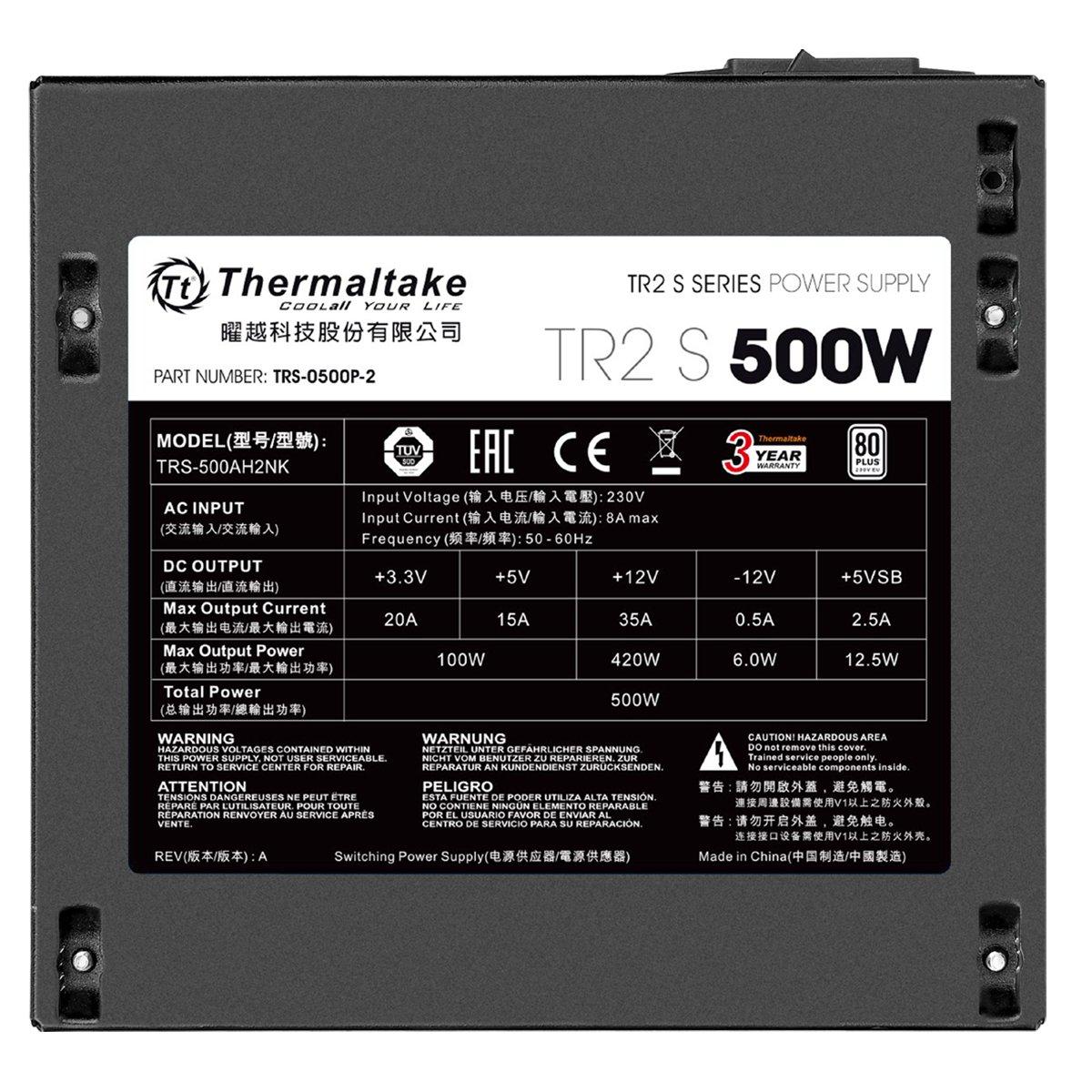 Amazon.in: Buy Thermaltake PS-TRS-0500NPCWEU-2 500W Power Supply ...