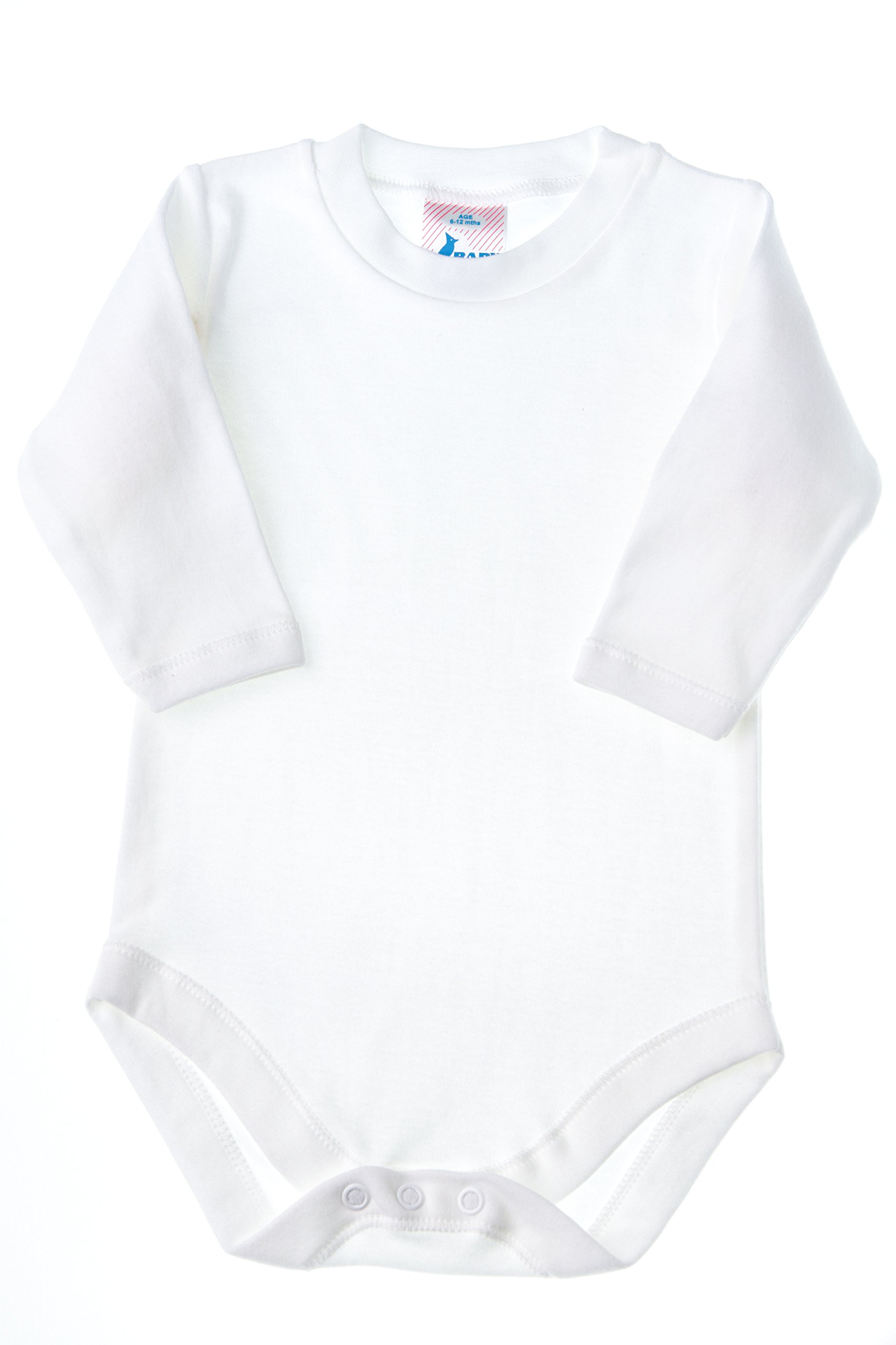 Baby Jay Soft Cotton Onesies, Long Sleeve Unisex Bodysuit, WSLR 3-6 2-Pack by Baby Jay (Image #2)