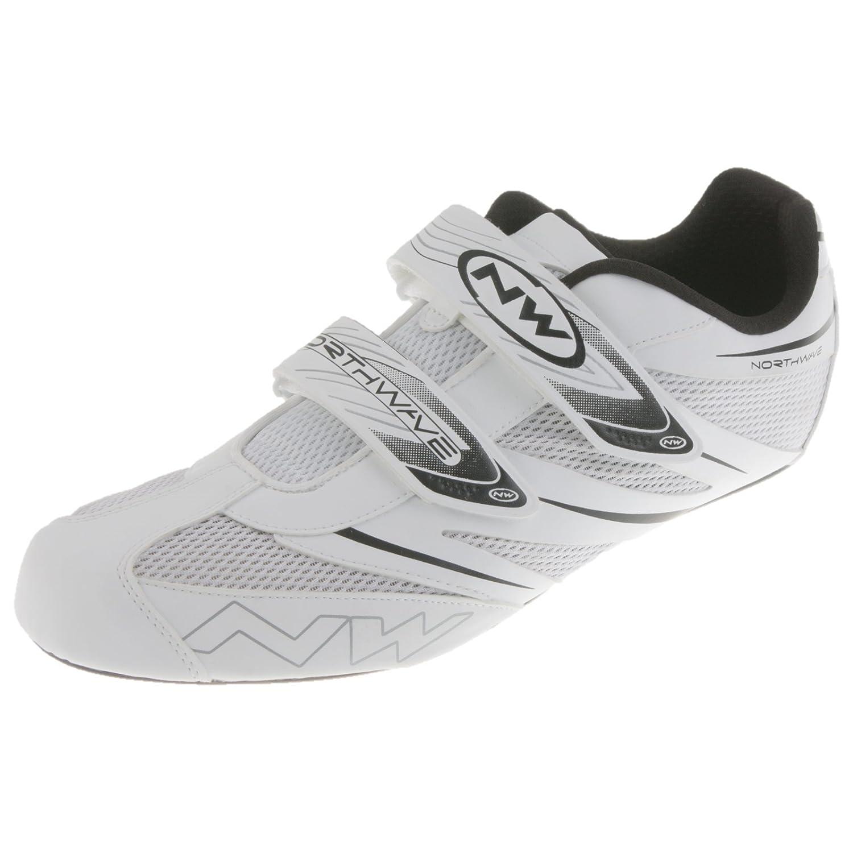Northwave Jet Pro Fahrrad Rennrad Schuhe Klettverschluss Road Bike Cleats Rad Sport, 80121008, Farbe Weiß , Grö ß e 49 Farbe Weiß Größe 49