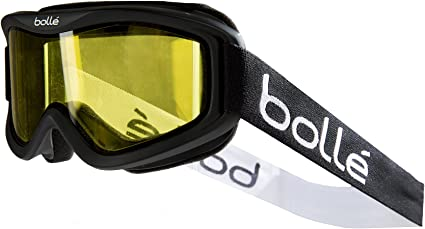 New Bolle Mojo Snow Goggles Shiny Black Vermillon Lens Free Shipping