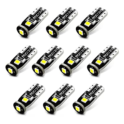 JDM ASTAR 10pcs Super Bright 194 168 175 2825 T10 PX Chipsets White LED Bulbs: Automotive