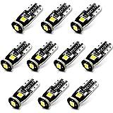 JDM ASTAR 10pcs Super Bright 194 168 175 2825 T10 PX Chipsets White LED Bulbs