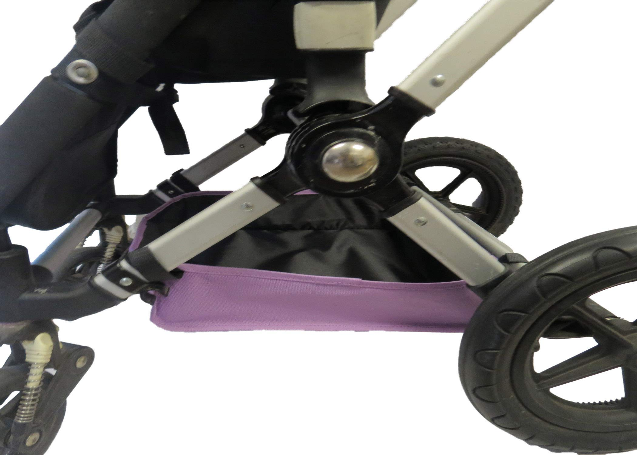Light Purple Sun Shade Canopy with Wires and Under Seat Storage Basket Plus Free Handle Bar Covers for Bugaboo Cameleon 1, 2, 3, Frog Baby Child Strollers by Ponini (Image #4)