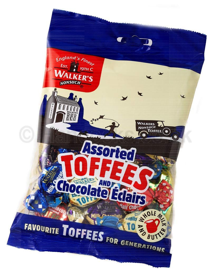 Walker's Nonsuch Assorted Toffees & Eclairs Bag 150g