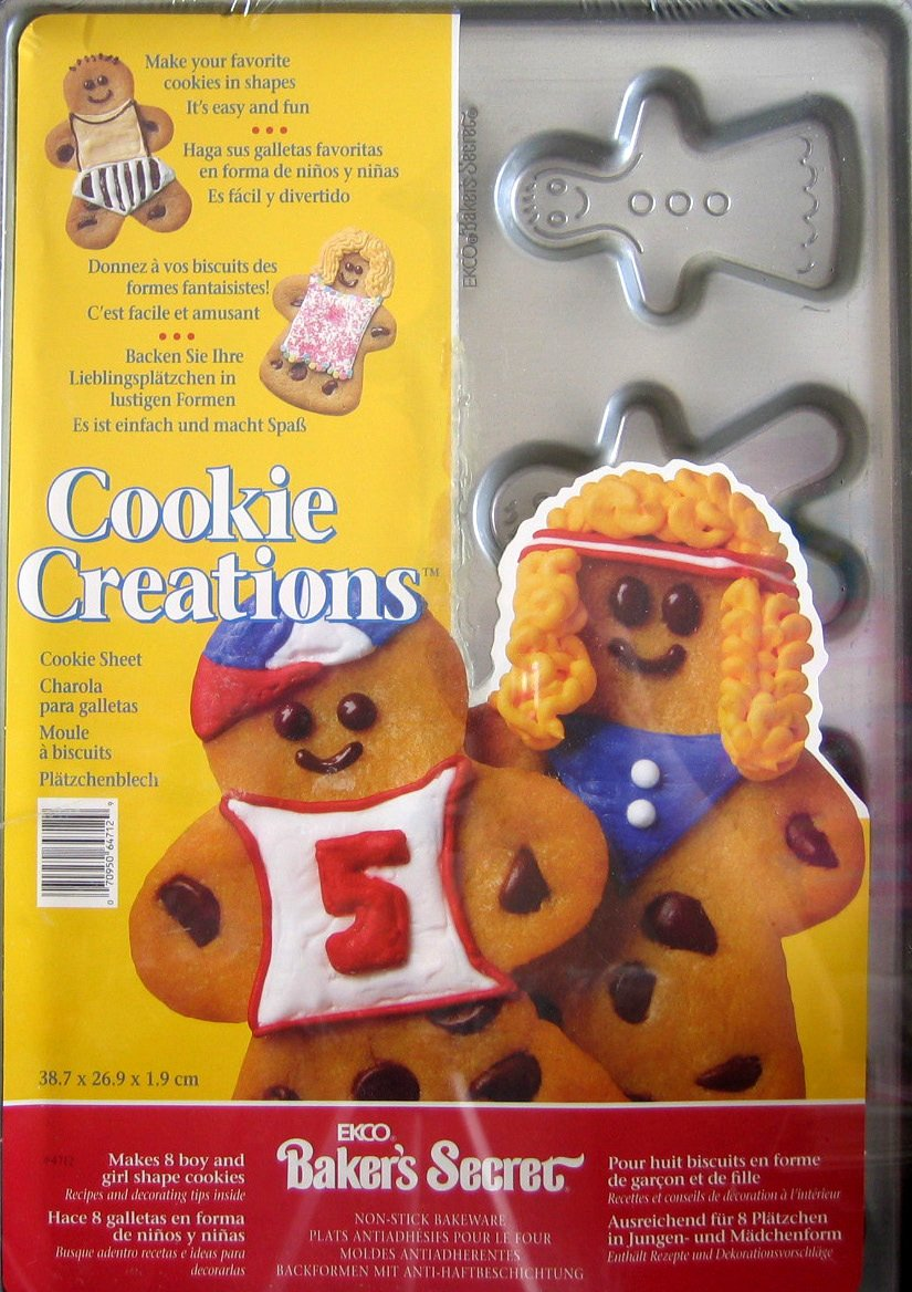 Amazon.com: Ekco Bakers Secret Cookie Sheet - BOYS & GIRLS Shape Cookie Creations: Home & Kitchen
