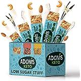Adonis Low Sugar Nut Bar - Barritas de Coco Crujiente Sabor a Vainillia | 100% Natural, Baja en Carbohidratos, Sin…