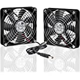 ELUTENG Ventola 120mm Raffreddamento PC Ventole 5V USB Fan 12cm USB Ventola Silenziosa per TV Box / Router / Xbox / PlayStation / PC Ventola per Case