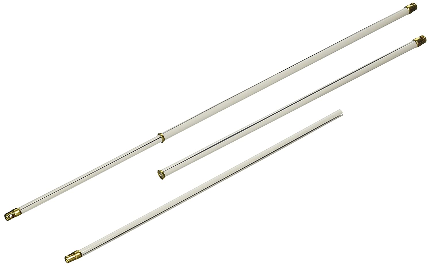 Kenney A7004213417 Sash Rod, 5/16-Inch Diameter, 12-to-22-Inch Width, White, 2-Pack