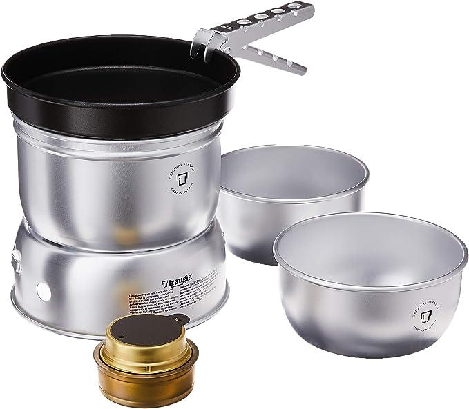 Hornillo de aluminio con utensilios de cocina Trangia 25-5 UL Ultralight
