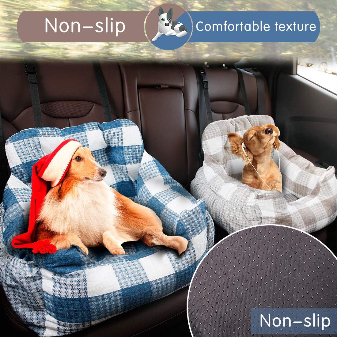 bequem und rutschfest f/ür Jede Art von Auto geeignet superweiche PP-Baumwolle BO/&CHAO Autositz f/ür Hunde hochwertiger Stoff mit Aufbewahrungstasche Sicherheitssitz f/ür Haustiere