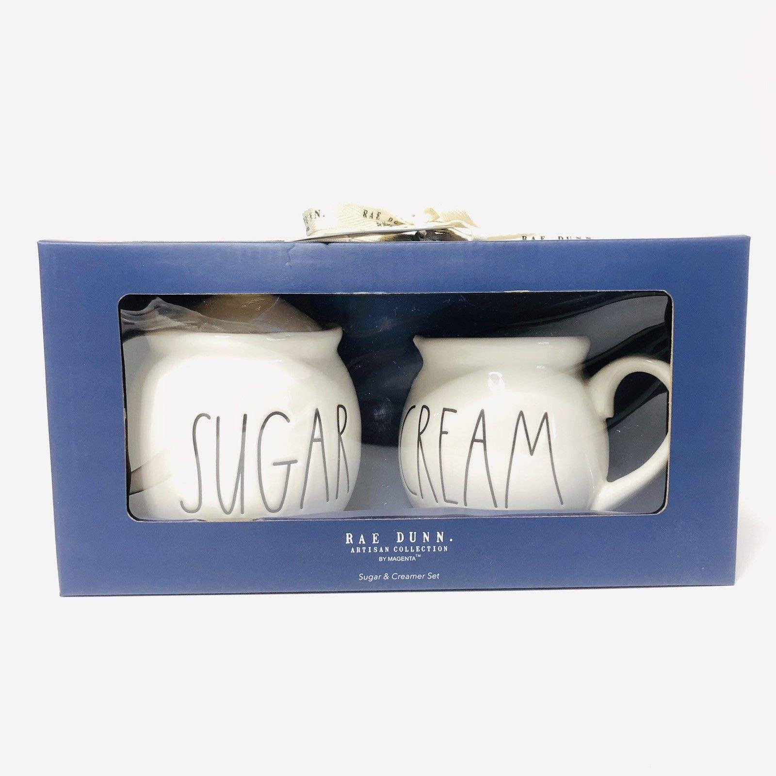 Rae Dunn Large Letter Sugar And Cream Christmas Holiday Gift Set