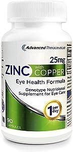 Pro-Optic Zinc (25mg) & Copper (2mg) Formula / 3 Month Supply / 1-Per-Day