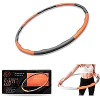 Phoenix Fitness RY1008 Hoelabanden voor gewichtsvermindering, fitnessbanden met schuimrubberen gewichten, hoelahoep…