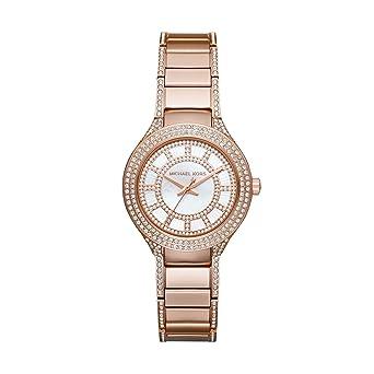 b75c3aed675e Amazon.com  Michael Kors Women s Mini Kerry Rose Gold-Tone Watch ...