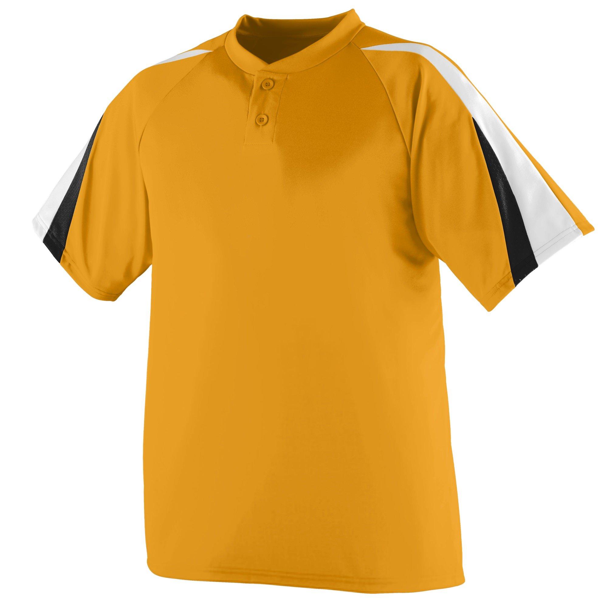 Augusta Sportswear Power Plus Jersey 2XL Gold/White/Black by Augusta Sportswear