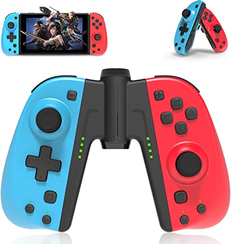 Mando inalámbrico para Nintendo Switch, PowerLead Joy con replacement para Nintendo Switch, Con función despertador / Turbo/Botón Macro, Joy con replacement que se puede usar como Mando pro: Amazon.es: Videojuegos