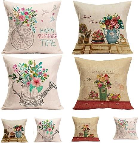 Elaco 4Packs Christmas Pillows Covers Christmas Decor Pillow Covers  Christmas Decorative Throw Pillow Case Sofa Home Decor