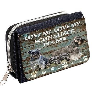 Personalizado SCHNAUZER Love My Dog Mujer Denim Bolso Niñas Cartera de regalo * * Añade un nombre * *: Amazon.es: Equipaje