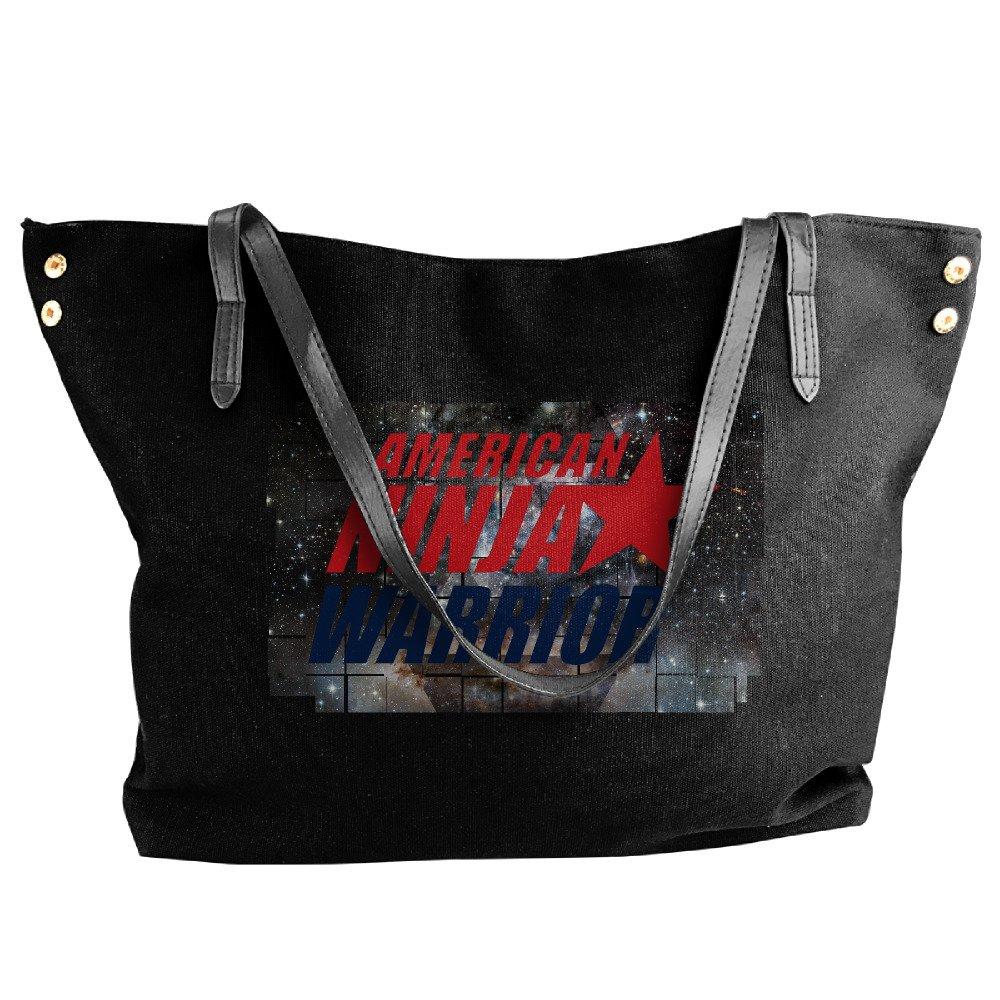 American Ninja Warrior Puzzle Design Tote Bag For Women Canvas Shoulder Handbags
