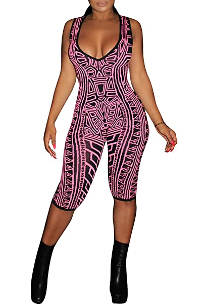 7b6ea2a7 IyMoo Sexy Club Outfits for Women - Women's Sexy Deep V-Neck One Piece  Bodysuits
