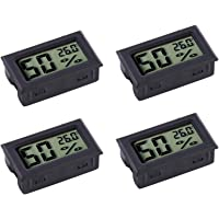 Veanic 4-pack Mini Digital Electronic Temperature Humidity Meters Gauge Indoor Thermometer Hygrometer LCD Display for…