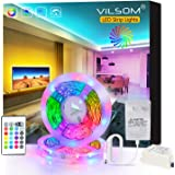 ViLSOM LED Strip Lights 32.8ft 10M 540LEDs Color Changing Lights for Bedroom, Room, TV, Kitchen and Christmas Decorations, RGB SMD2835 LED Tape Lights with Remote and 12V Power Supply