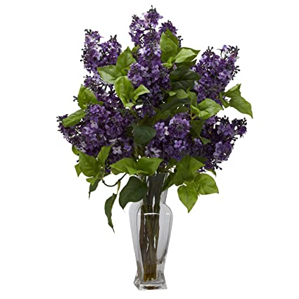 Amazon nearly natural lilac silk flower arrangement in purple nearly natural lilac silk flower arrangement in purple mightylinksfo