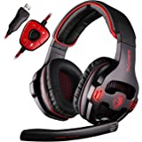 SADES SA-903 Gaming Headset Stereo 7.1 Surround USB Headphone with Microphone for PC Laptop (Black)