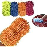 Dooppa Professional Microfibre Chenille Wash Sponge Mitt (Random Color)