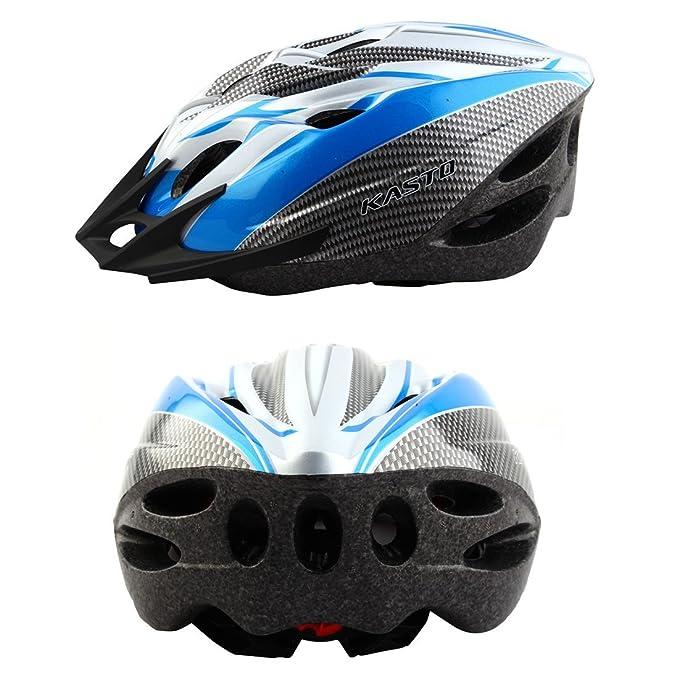 Amazon.com: eDealMax adulti 18 Buche rimovibile visiera esterna Della protezione di Sport, Cappello portatile, Ciclismo regolabile in bicicletta Casco blu: ...