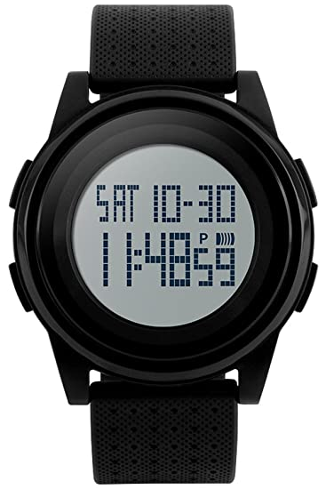 Skmei Relojes Hombre Digital Militar Deportivo Multifunción LED Alarma Calendario Quartz Negro: Amazon.es: Relojes
