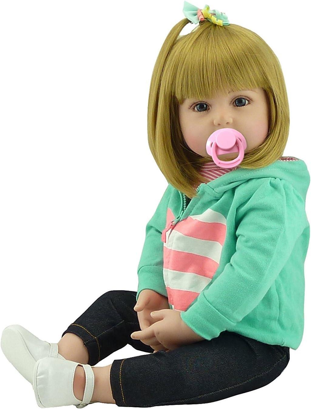"""Reborn Toddler 24/"""" Handmade Vinyl Silicone Baby dolls Lifelike Dolls Girl Gift"""