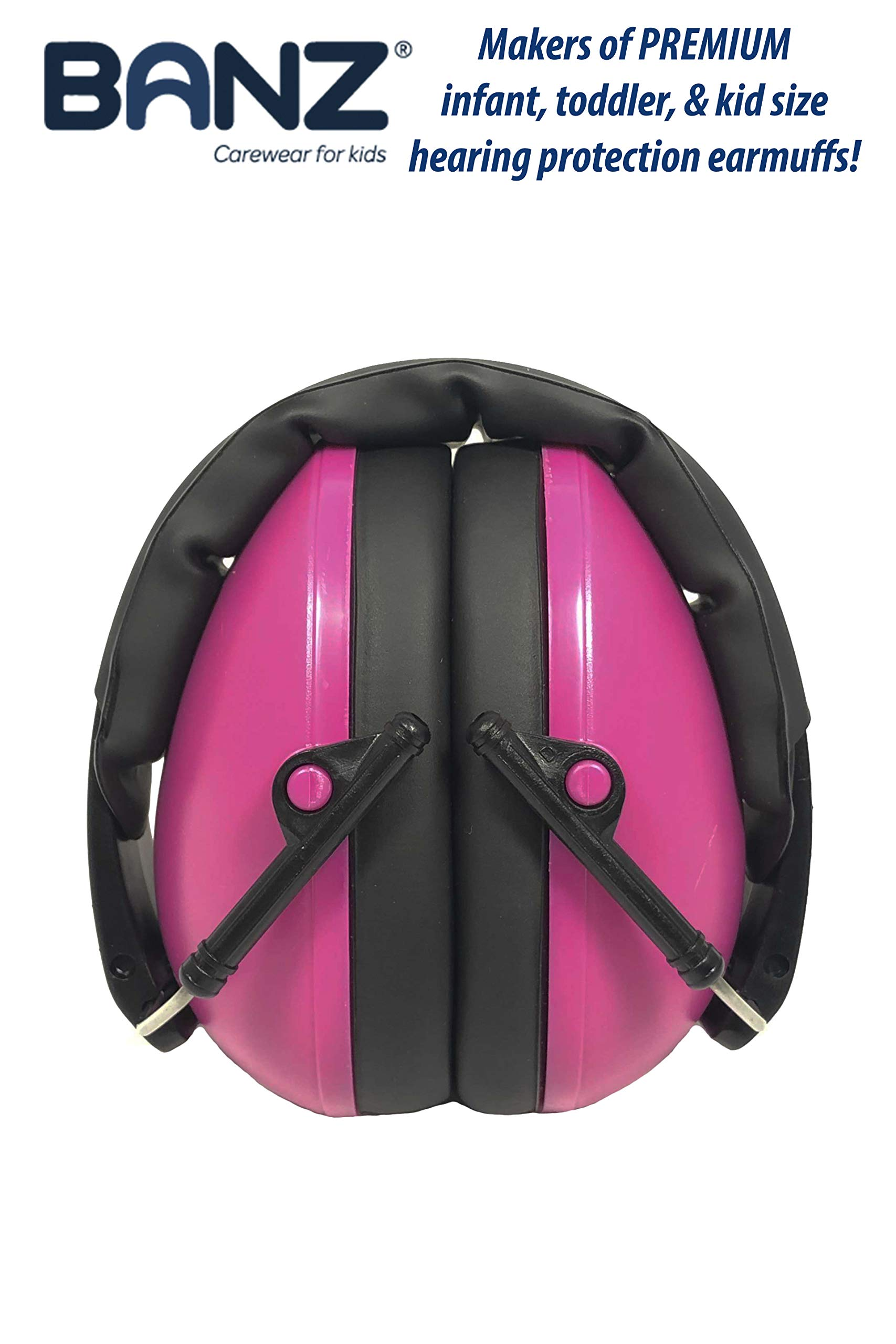 Baby Banz Earmuffs Kids Hearing Protection - Ages 2+ Years - THE BEST EARMUFFS FOR KIDS - Industry Leading Noise Reduction Rating - Soft & Comfortable - Kids Ear Protection, Magenta by BANZ (Image #5)