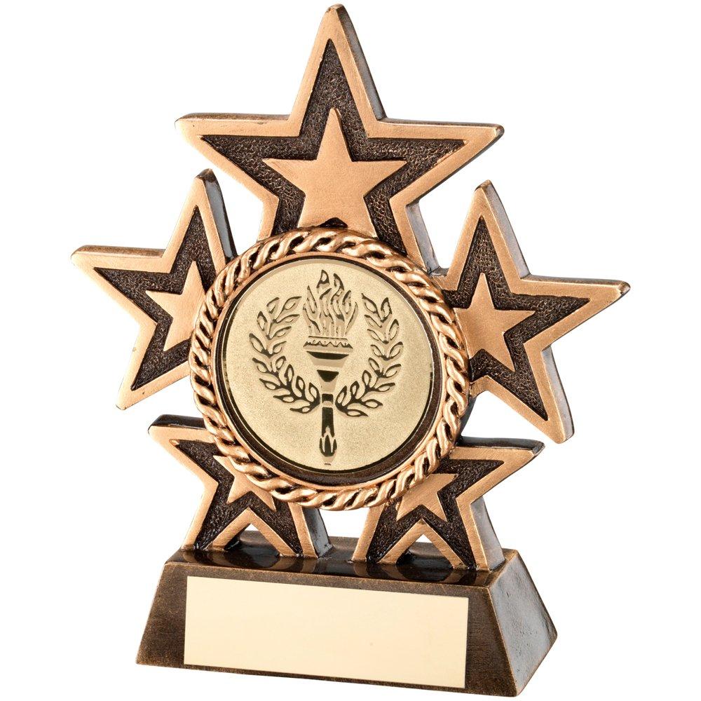 Trofeo estrella - Five Star Award, , 6 pulgadas TrophyMaker UK