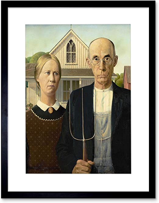 """13/""""×19/"""" Historic Decorative Art Poster AMERICAN GOTHIC Famous Painting Artwork"""