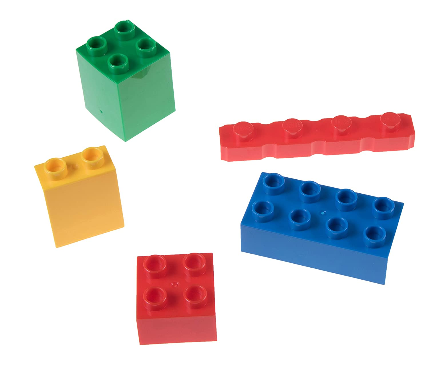 1 Large Block Size Set for Ages 3+ Green 2x2 Big Briks in Red 24 Pieces Blue Yellow Strictly Briks Big Briks Building Brick Set 100/% Compatible with All Major Brands Creative Play STEM Toy