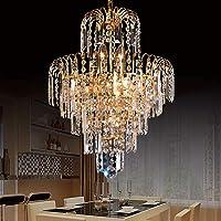 PanelTech Ceiling Light Chandeliers Light K9 Crystal Glass Chandelier E14 Bulbs Suitable for Staircase Corridor Living…