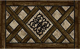product image for Apache Mills Masterpiece Rustic Lattice Door Mat, 18-Inch by 30-Inch