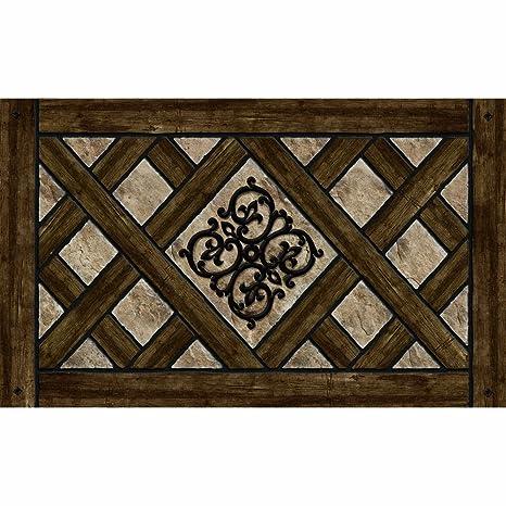 Masterpiece Rustic Lattice Door Mat 18-Inch by 30-Inch  sc 1 st  Amazon.com & Amazon.com : Masterpiece Rustic Lattice Door Mat 18-Inch by 30-Inch ...