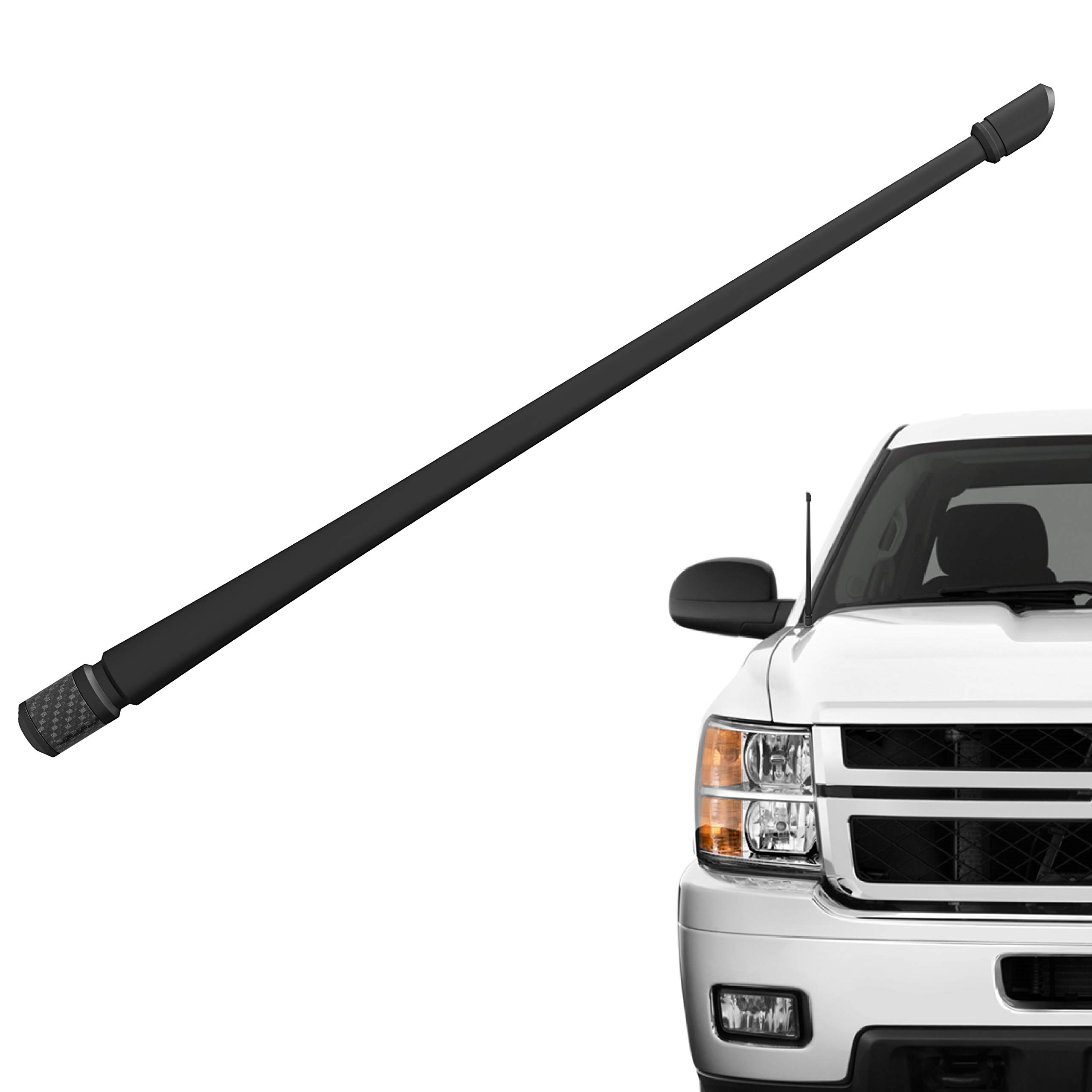 Rydonair Antenna Compatible with Chevy Silverado & GMC Sierra/Denali   13 inches Flexible Rubber Antenna Replacement   Designed for Optimized FM/AM Reception