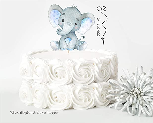 Amazon Com Elephant Cake Topper Elephant Baby Shower Decor