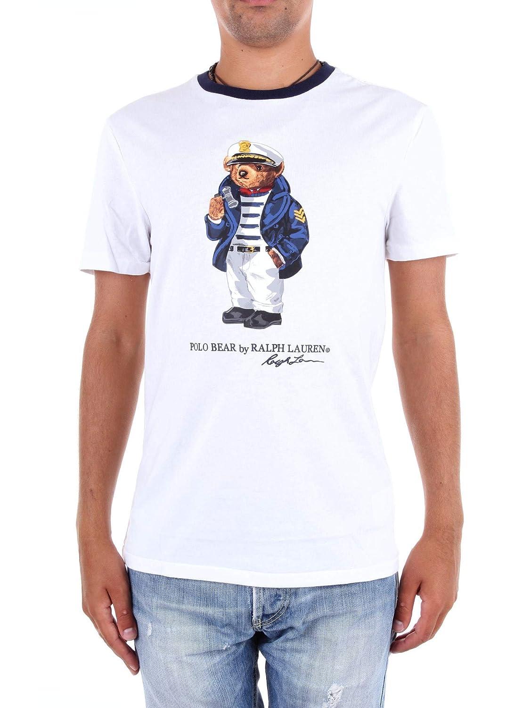 Ralph Lauren - Camiseta R. Lauren Hombre Color: 002 Blanca Oso ...