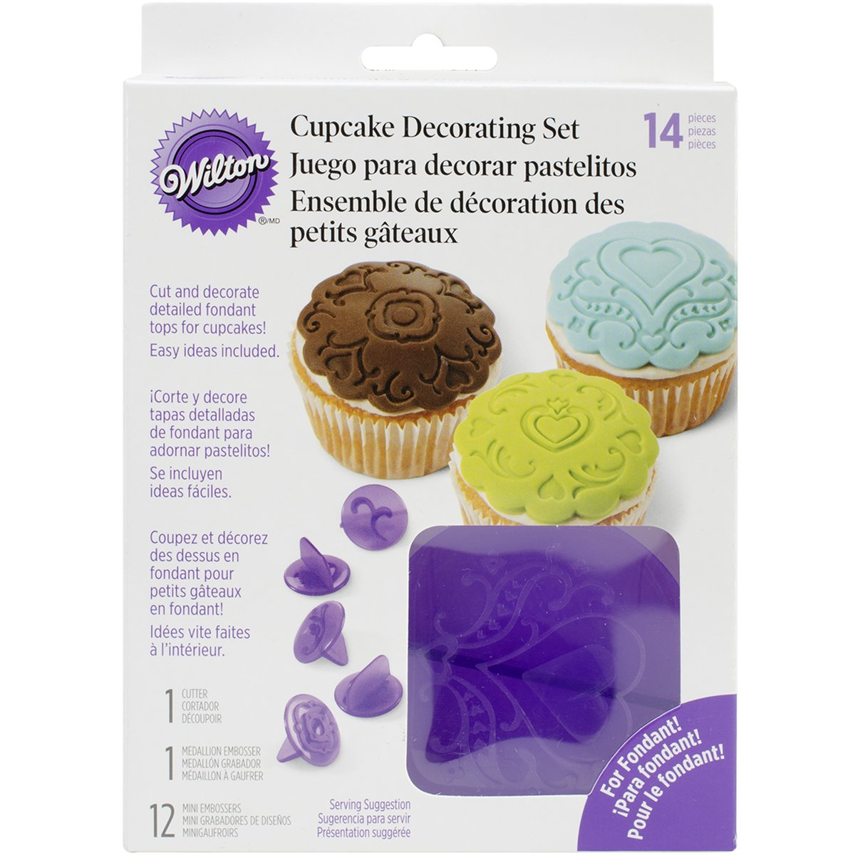 Wilton 2104-0057 Cupcake Decorating Set Hearts