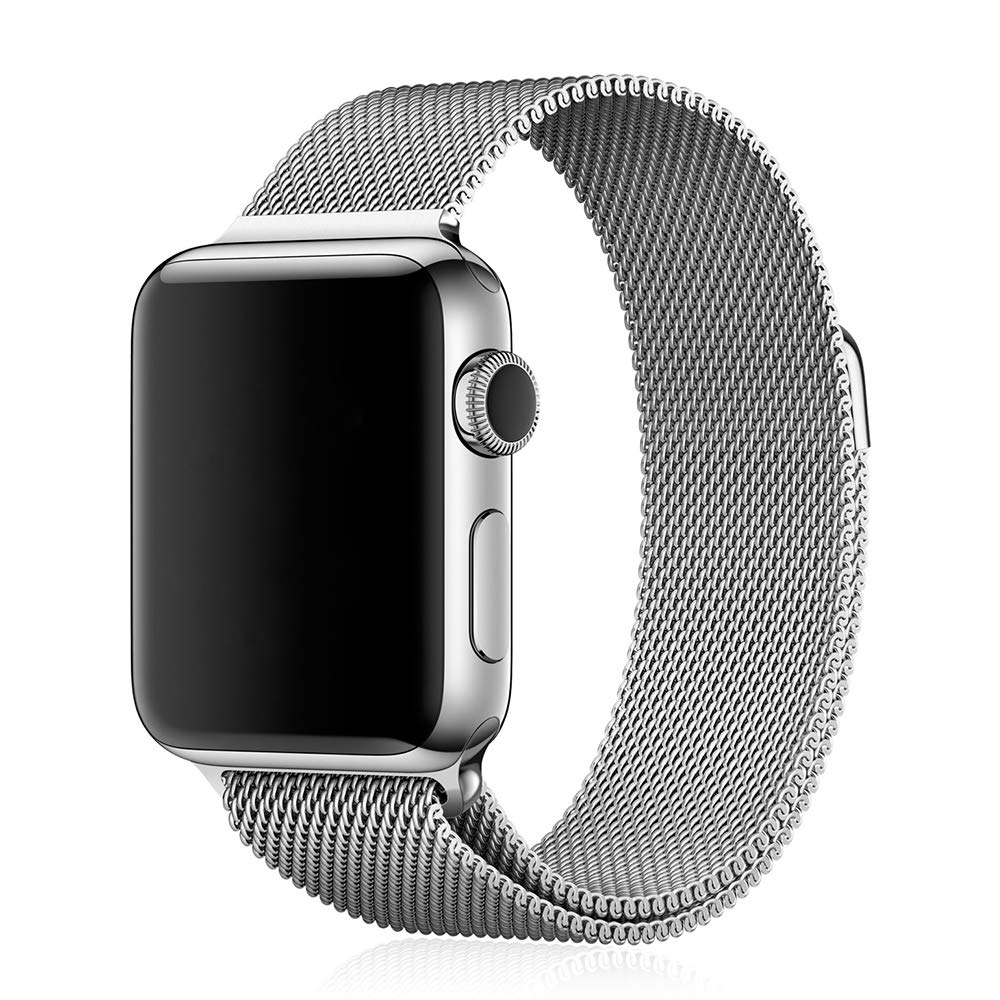 DAM DMX187SLV - Correa metálica para Apple Watch (38 mm) Color Plata
