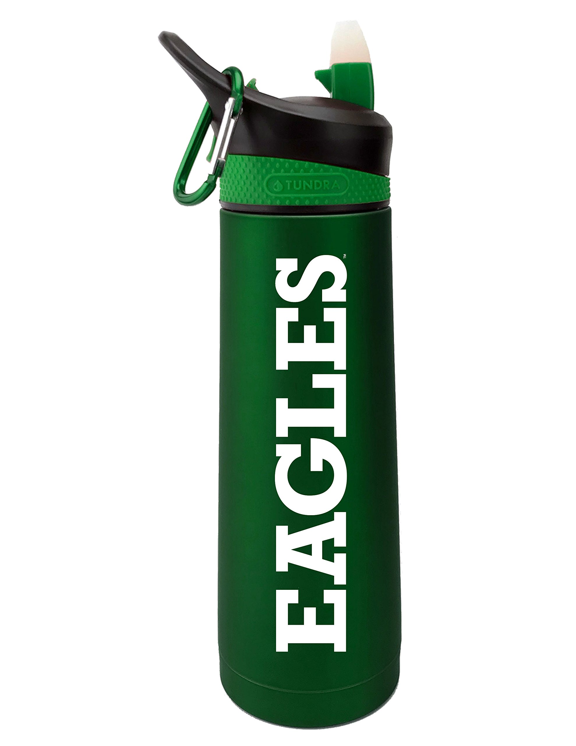 The Fanatic Group Eastern Michigan University Dual Walled Stainless Steel Sports Bottle, Design 2 - Green