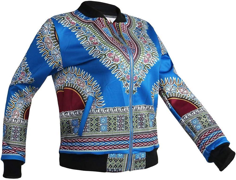 Rosennie Damen Jacke Herbst Winter Kurz Jacke Outwear Casual Fruhling Kurz Leichte Jacke Langarm Stehkragen Blouson Blumen Bomberjacke Jacke mit Rei/ßverschluss Strickjacke