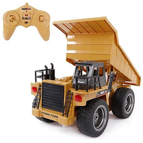 SGILE RC Camión Volquete-5 Canales Completamente Funcional, 2.4Ghz Control Remoto Vehículo de