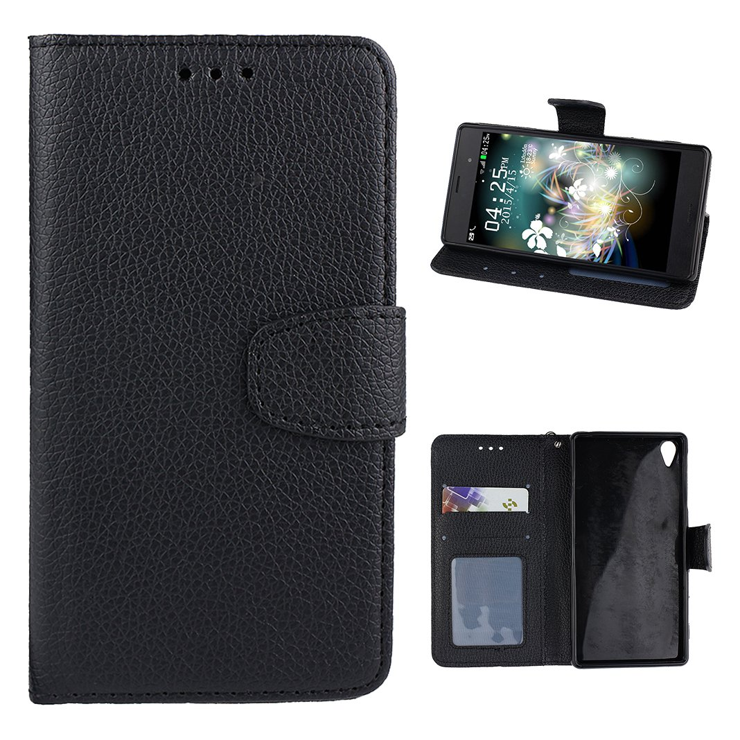 Sony Xperia Z3 Flip Cover, Custodia Sony Z3 Blu, Moon mood® Colorato Modello Antiurto Custodia Protettivo Libro Cover in Pelle PU per Sony Xperia Z3 Leather Flip Wallet Stand Case with Card Slot Mangent Clip Closure Kickstand Cassa in Pelle PU Case con Lan