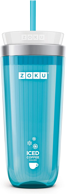 Zoku Iced Coffee Maker ZK121-GY Vaso de Caf/é Helado Gris 325 ml Preparador de Caf/é Helado